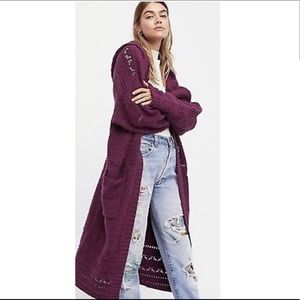 FREE PEOPLE OVERSIZED DUSTER